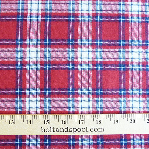 Rodeo Plaid Flannel : Red / Blue Thumbnail