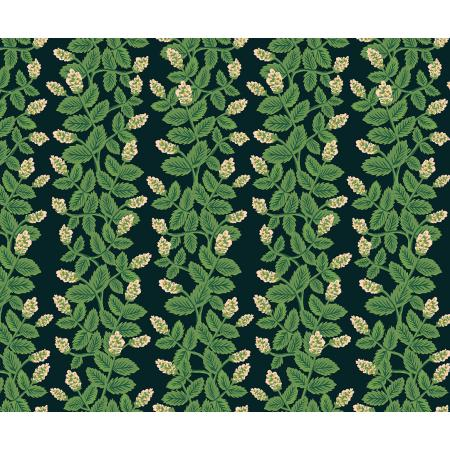 Cotton + Steel : Rifle Paper Co. Primavera - Climbing Vines - Black quilting cotton fabric