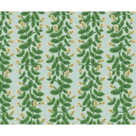 Cotton + Steel : Rifle Paper Co. Primavera - Climbing Vines - mint quilting cotton fabric