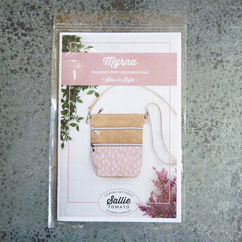sallie tomato myrna zippy crossbody bag purse sewing pattern