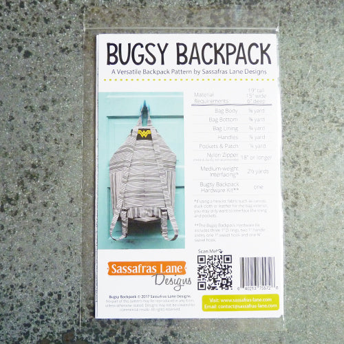 sassafras lane designs bugsy backpack sewing pattern