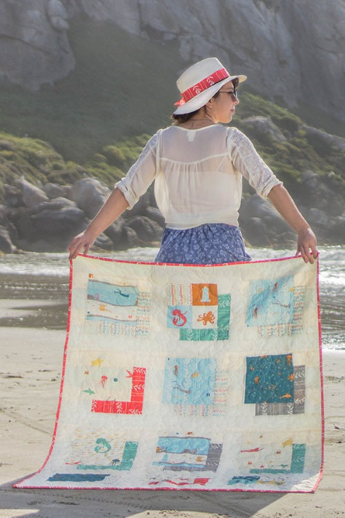 Free PDF Sea Squared Quilt Pattern from birch