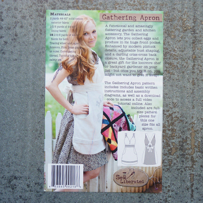Sew Liberated Patterns : Gathering Apron Thumbnail