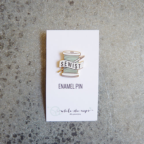 sewist enamel pin