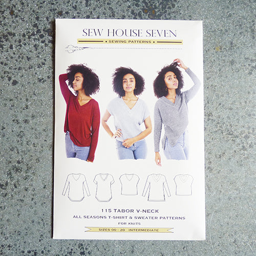 sew house seven tabor tee sweater sewing pattern