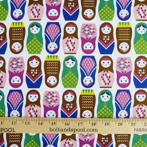 Seven Islands : Kokka Multicolor Matryoshka Canvas Thumbnail