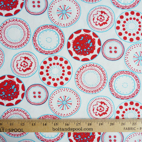 seven islands japanese canvas red polka dot