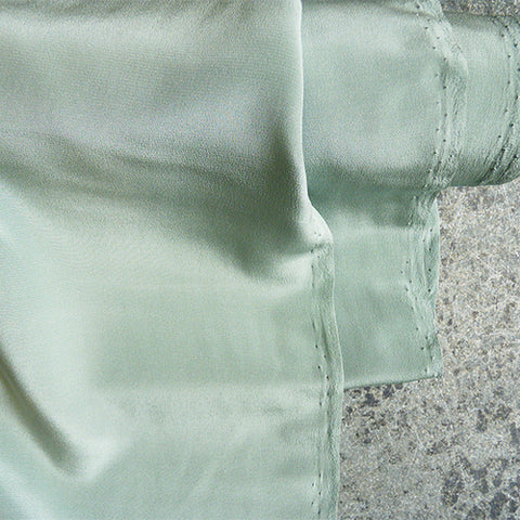 silk crepe de chine ether seafoam green