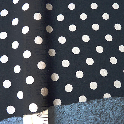 Milly : Silk Dot Chiffon - Black / Cream Thumbnail