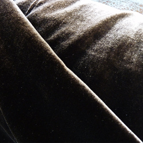 silk velvet chocolate brown