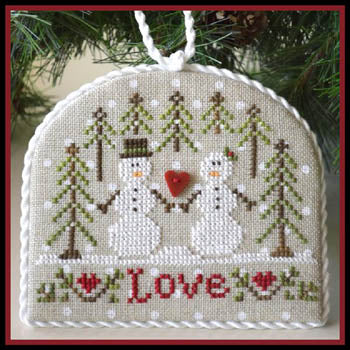 "Counted Cross Stitch Pattern: ""Snow Love"" Ornament"