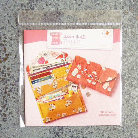 straight stitch society have it all wallet sewing pattern