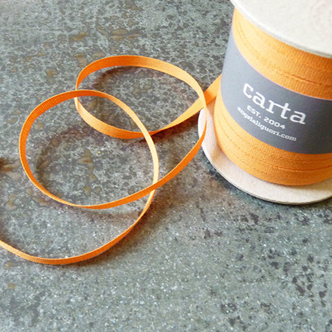 studio carta cotton tight weave ribbon melon