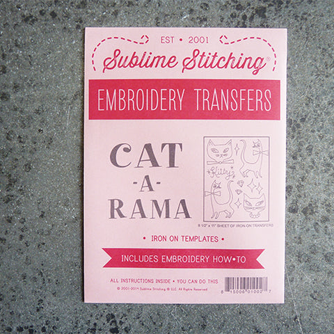 sublime stitching embroidery transfer pattern cat