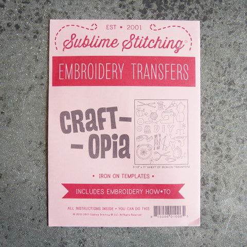 sublime stitching embroidery transfer pattern craft