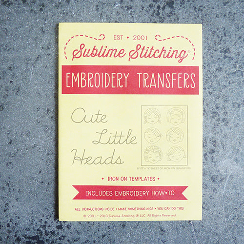 sublime stitching embroidery transfer pattern girl faces