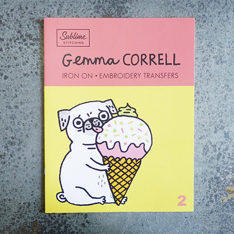 sublime stitching gemma correll embroidery transfer book