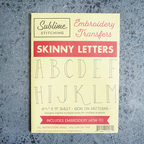 sublime stitching embroidery transfer pattern alphabet letters