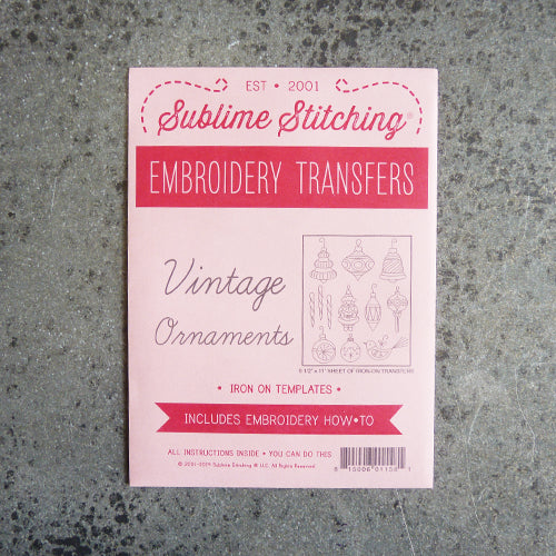 sublime stitching embroidery transfer pattern vintage ornaments