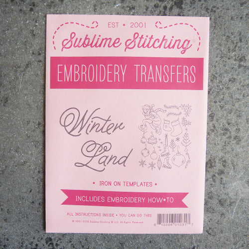 sublime stitching embroidery transfer pattern winter christmas