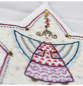 Un Chat Embroidery Kit: angel ornament kit
