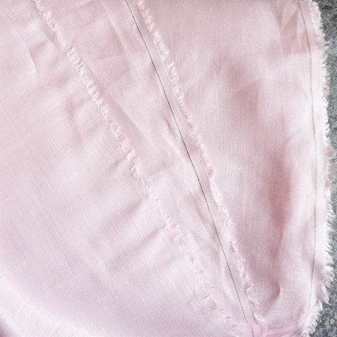 irish handkerchief linen pink