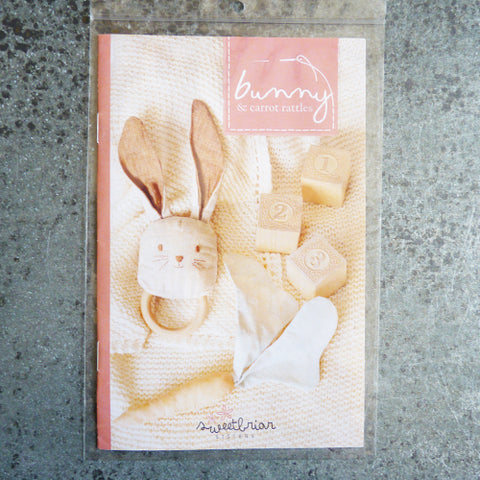 Sweetbriar Sisters : Bunny & Carrot Rattles sewing pattern