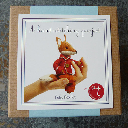 threadfollower felt handstitching project fox