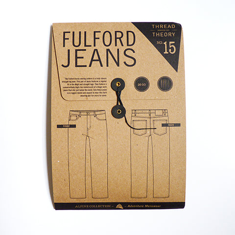 Thread Theory : Fulford Jeans sewing pattern