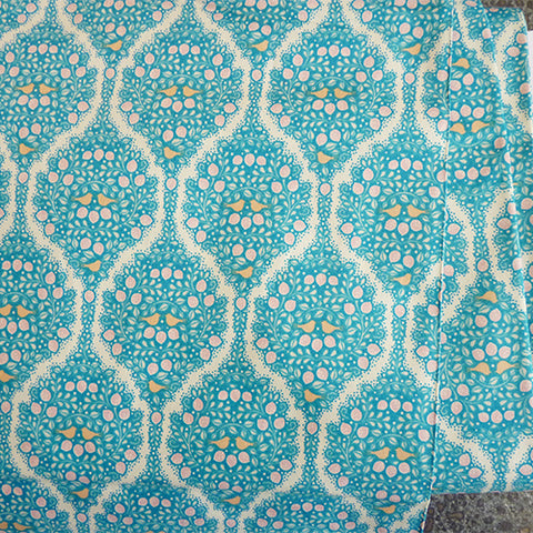 tilda quilting cotton lemonade blue floral