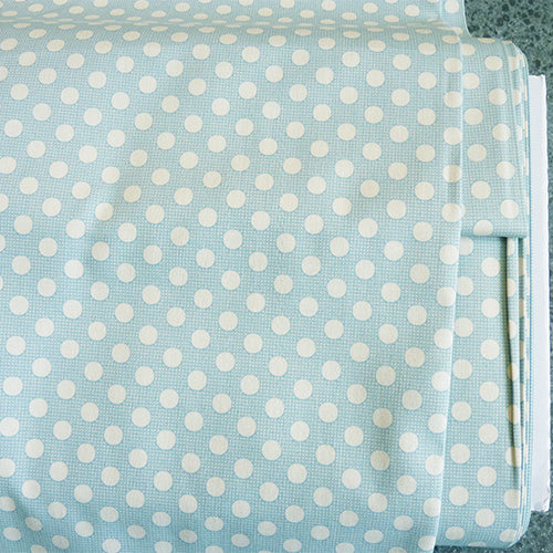 tilda quilting cotton polka dots teal blue
