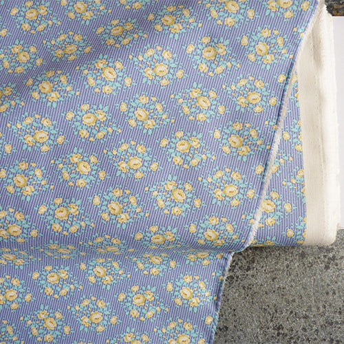 Tilda Fabrics : Happy Campers quilting cotton - Marylou Blue