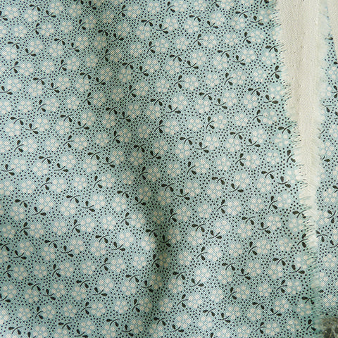 tilda fabric quilting cotton meadow basic floral teal green