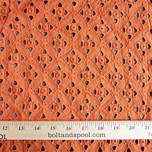 Cotton Eyelet - Salamander Orange Thumbnail