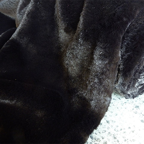 polyester faux fur black
