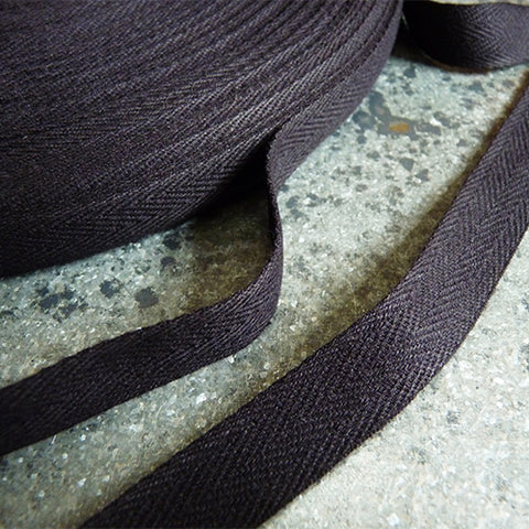 Cotton Twill Tape - Black 1/2 .5 in
