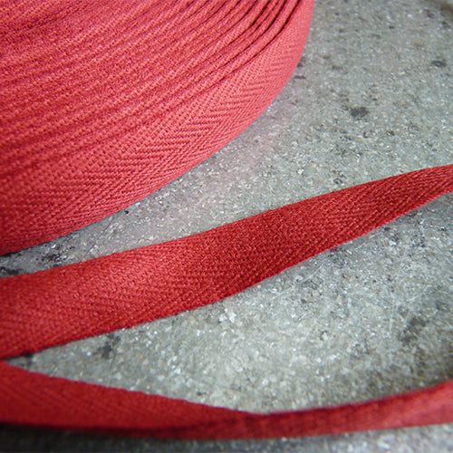 Cotton Twill Tape - Burgundy .5 1/2 in