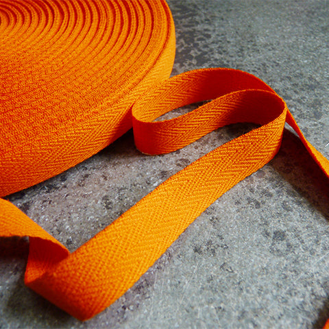 Cotton Twill Tape - Orange .5 1/2 in