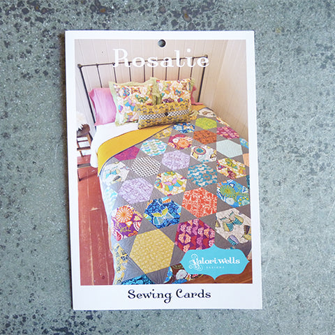 valori wells rosalie hexagon quilt sewing pattern