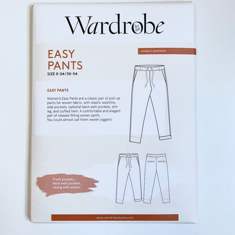 Wardrobe by Me : Easy Pants sewing pattern