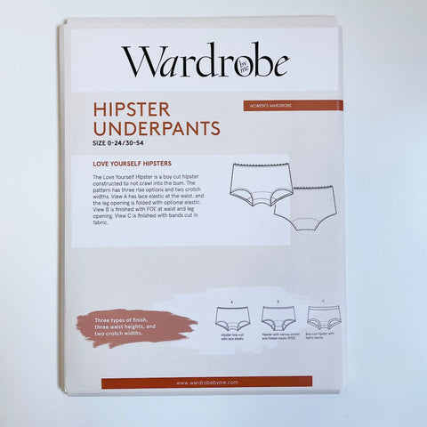 Wardrobe by Me : Love Yourself Hipster Underpants sewing pattern
