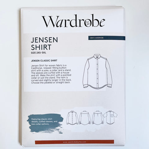 Wardrobe by Me : Jensen men Shirt sewing pattern