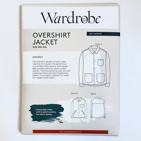 Wardrobe by Me : Overshirt Jacket sewing pattern