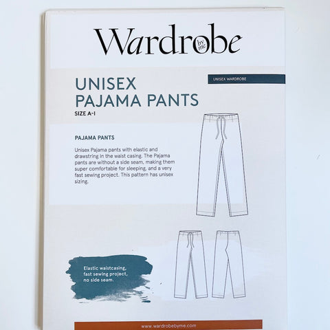 Wardrobe by Me : Unisex Pajama Pants sewing pattern