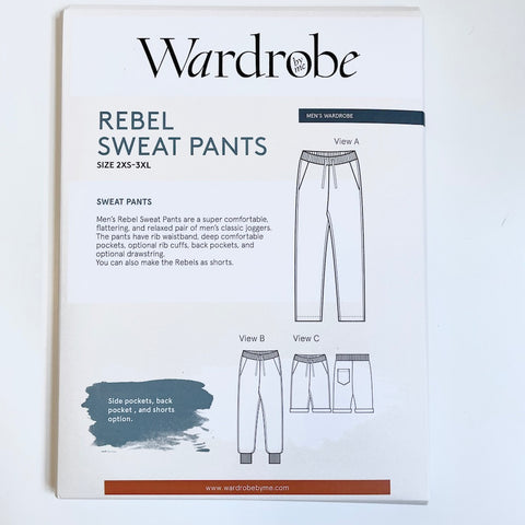 Wardrobe by Me : Rebel Sweat Pants sewing pattern