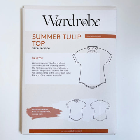 Wardrobe by Me : Summer Tulip Top sewing pattern