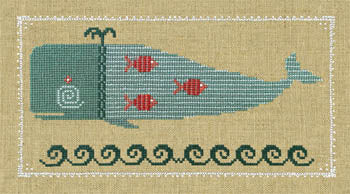 Counted Cross-Stitch Pattern: Winsome Whale