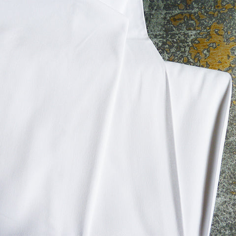 Antimicrobial Polyester / Cotton - White