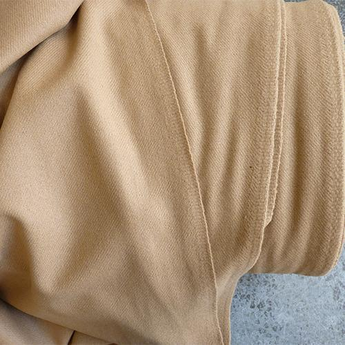 italian wool flannel twill fabric camel