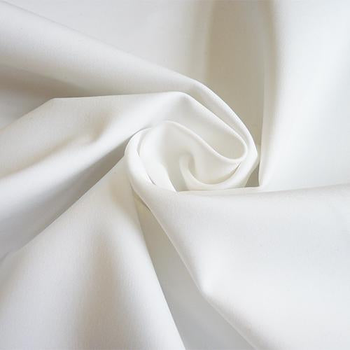 stretch cotton sateen fabric white
